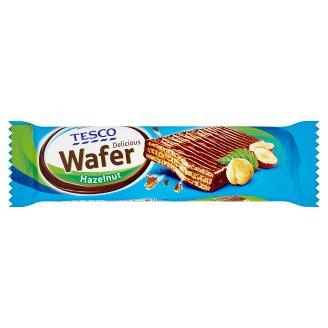 Tesco Oplatka s náplní s lískooříškovou příchutí v mléčné čokoládě 33g