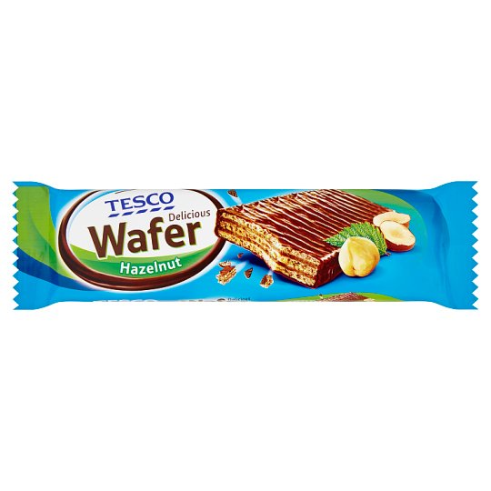 Tesco Delicious Wafer Hazelnut 33g