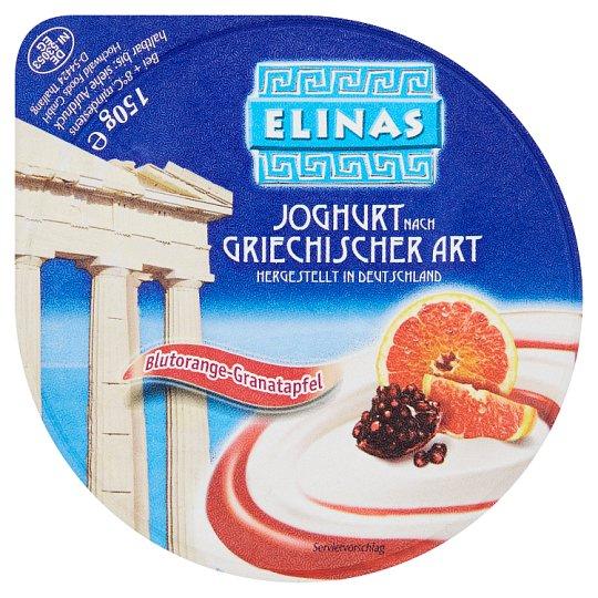 Elinas Yoghurt of Greek Type Red Orange-Pomegranate 150g