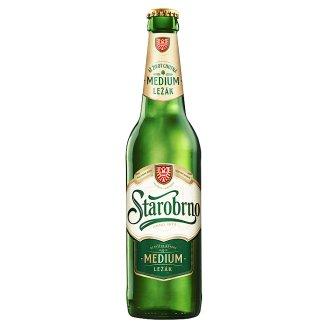 Starobrno Medium Unpasteurized Beer Light Lager 0.5L