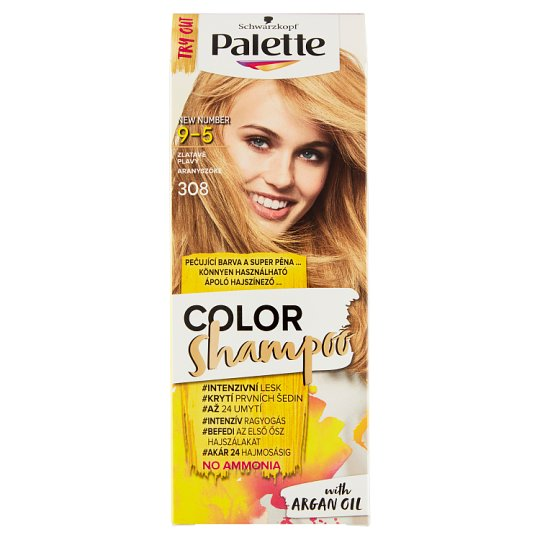 image 1 of Schwarzkopf Palette Color Shampoo Hair Color Golden Blonde 308