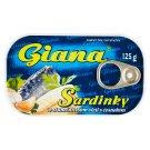 Giana Sardinky ve slunečnicovém oleji s česnekem 125g
