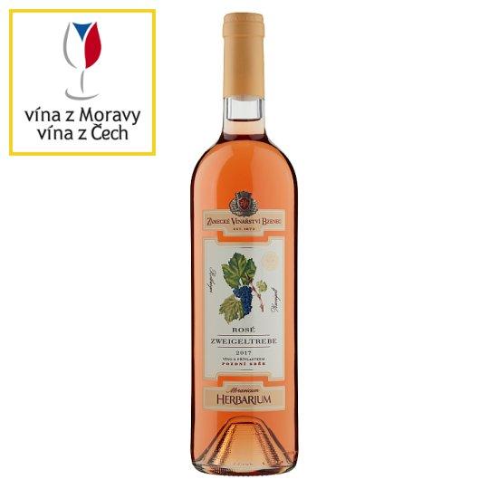 Zámecké Vinařství Bzenec Rosé Zweigeltrebe víno s přívlastkem pozdní sběr 75cl