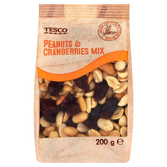 Tesco Mix of Roasted Peanuts and Candied Cranberries 200g