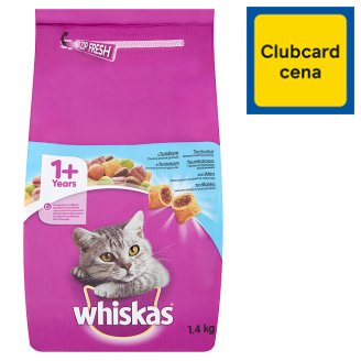 Whiskas Complete Pet Food for Adult Cats with Tuna 1+ Age 1.4kg