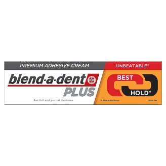 Blend-a-dent Plus Dual Power Fixační Krém Na Zubní Náhradu 40g
