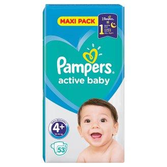 Pampers Active Baby Velikost 4+, 53 Plenek, 10–15kg