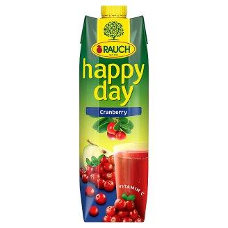 Rauch Happy Day Brusinkový nápoj vyrobený z brusinkové šťávy/koncentrátu a jablečné šťávy 1l