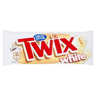 Twix White sušenka s karamelem máčená v bílé čokoládě 2 x 23g