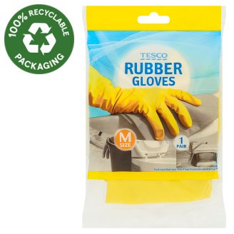 Tesco Rubber Gloves Size M 1 Pair