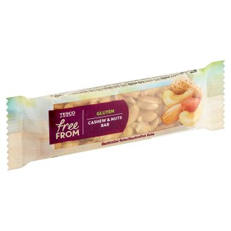 Tesco Free From Bar with Peanuts and Cashew Nuts 35g