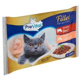 PreVital Kompletní krmivo pro dospělé kočky 4 x 85g