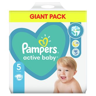 Pampers Diapers Size 5, 64 Nappies, 11-16 kg