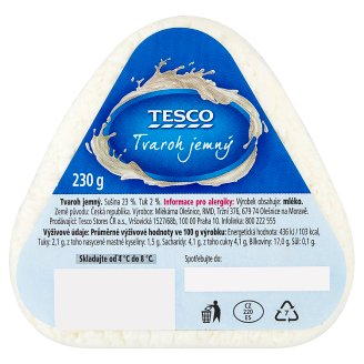 Tesco Soft Curd Cheese 230g