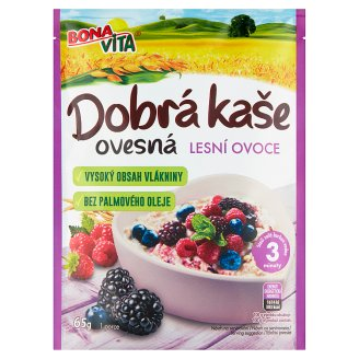 Bona Vita Dobrá Kaše Original Oatmeal Porridge Forest Fruits 65g