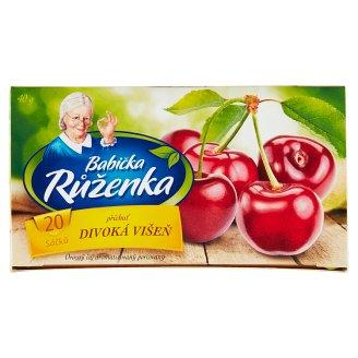 Babička Růženka Ovocný čaj s příchutí divoké višně 20 x 2g