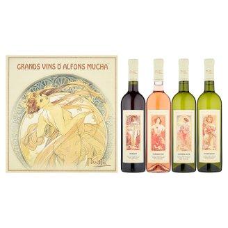 Zámecké Vinařství Bzenec Grands Vins d'Alfons Mucha kolekce vín 4 x 0,75l