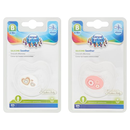 Canpol Babies Silicone Symmetrical Soother B 6-18m