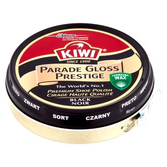 Kiwi Parade Gloss Prestige Black Shoe Polish 50ml