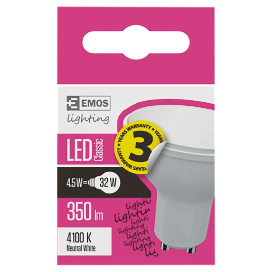 LED Bulb Classic MR16 4.5W GU10 Neutral White