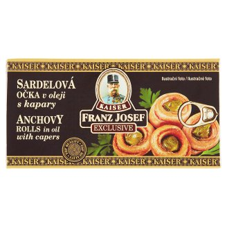 Kaiser Franz Josef Anchovy Rolls in Oil with Capers 45g