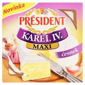 Président Karel IV. Maxi Camembert - česnek 90g