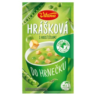 Vitana Do hrnečku Instant Soup Split Pea with Bread Roll 27g