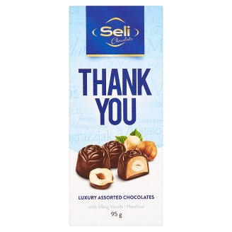 Seli Thank You Luxury Assorted Chocolates with Filling Vanilla and Hazelnut 95g