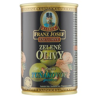 Kaiser Franz Josef Exclusive Green Olives in Salted Brine with Tuna Paste 300g