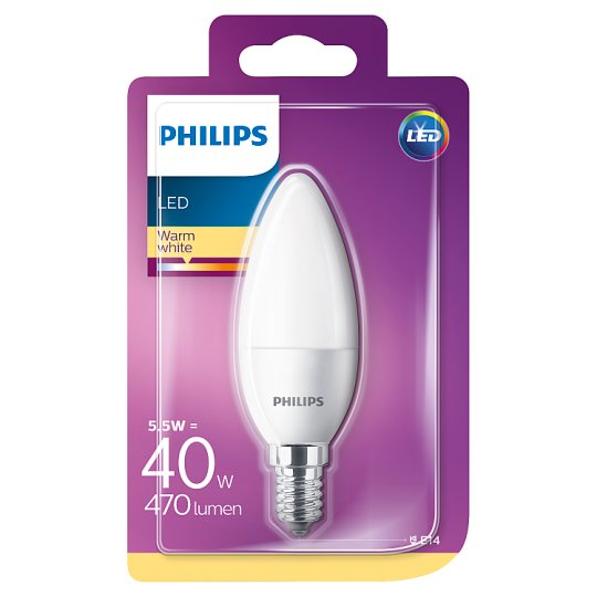 Philips Candle Bulb LED 5.5 W (40 W) E14 Warm White