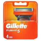 Gillette Fusion Náhradní Hlavice K Holicímu Strojku – 4 Ks