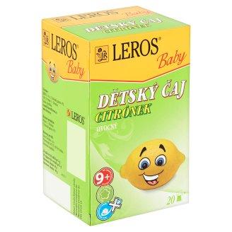 Leros Baby Dětský čaj citrónek ovocný 20 x 2g