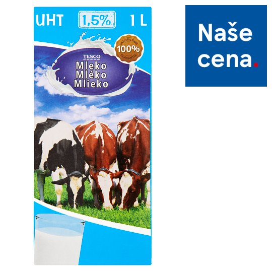 Tesco Milk 1,5% 1L