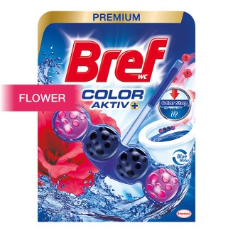 Bref Blue Aktiv Fresh Flowers tuhý WC blok 50g