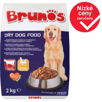Brunos Dry Dog Food Flavoured with Beef and Poultry 2kg