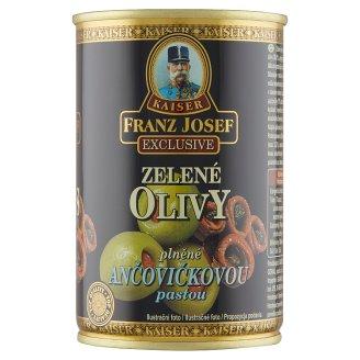 Kaiser Franz Josef Exclusive Zelené olivy plněné ančovičkovou pastou 300g