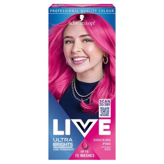 Schwarzkopf Live Ultra Brights or Pastel Hair Color Shocking Pink 093