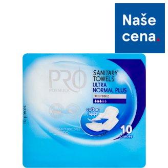 Tesco Pro Formula Normal Plus dámské hygienické vložky s křidélky 10 ks