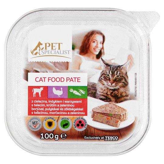 Tesco Pet Specialist Paštika s telecím, krůtím a zeleninou 100g