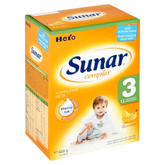 Sunar Complex 3 Dried Milk Nutrition for Babies Banana 2 x 300g