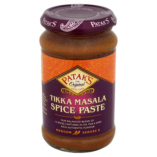 Patak's Kořeněná pasta Tikka Masala 283g