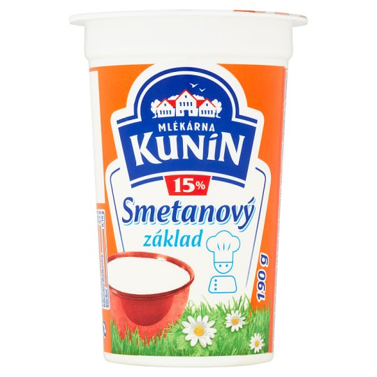 Mlékárna Kunín Smetanový základ 15% 190g