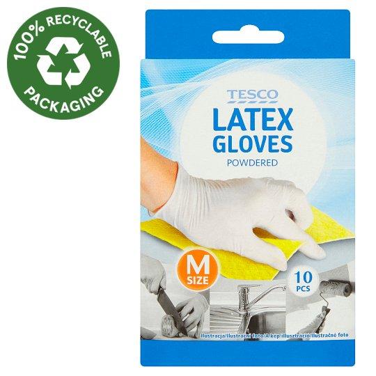 Tesco Latexové rukavice velikost M 10 ks