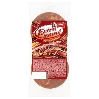Druid Extra Jemné Rýžové chlebíčky s mléčno-kakaovou polevou 65g