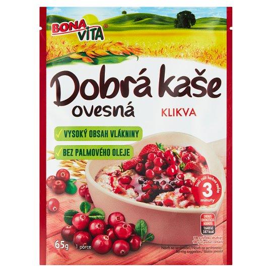 Bona Vita Dobrá Kaše Original Oatmeal Porridge Cranberry 65g
