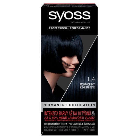 Syoss 1-4 Bluish Black Permanent Hair Colorant