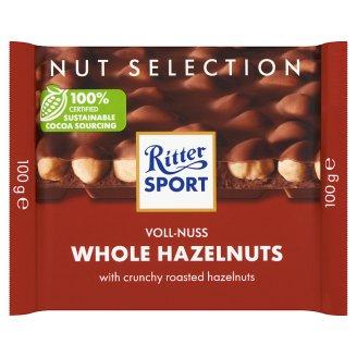 Ritter Sport Milk Chocolate with Whole Hazelnuts 100 g