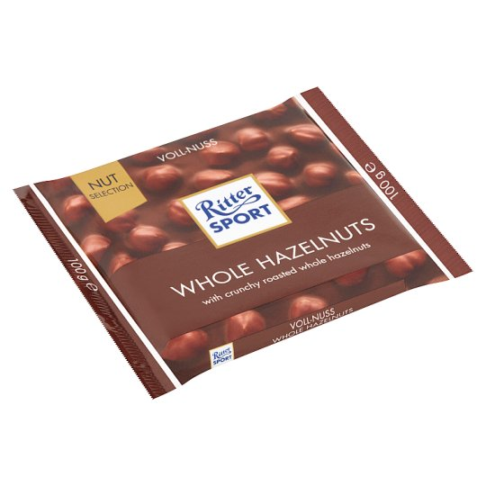 Ritter Sport Milk Chocolate with Whole Hazelnuts 100 g