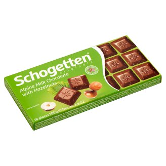 Schogetten Alpine Milk Chocolate with Chopped Hazelnuts 100 g