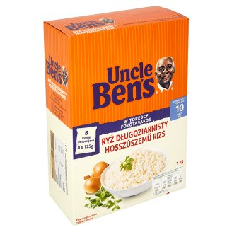 Uncle Ben's Long Grain Rice in Cooking Bag 8 x 125 g